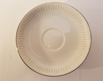 Hira China of Japan, Mariner Saucer White Silver
