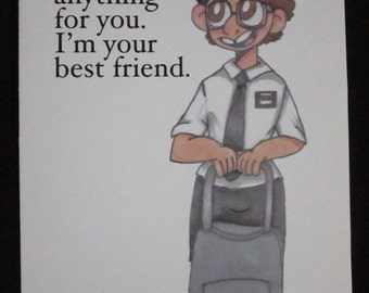 Arnold Cunningham Book of Mormon Elder Cunningham Best Friend Birthday Fan Art I'd Do Anything For You Pure Innocence Greeting Card