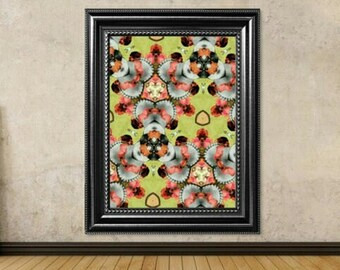 Kaleidoscope poster, modern art, 1940s magazine print, Bette Davis collage, pop art wall decor