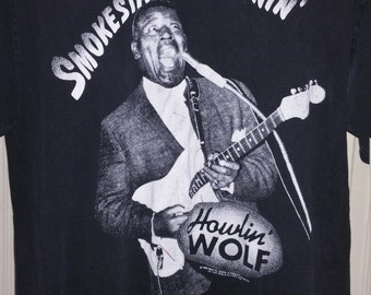 Howlin' Wolf Smokestack Lightnin' T Shirt Large  1993
