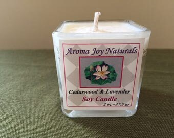 All Natural Soy Votive Candle (Cedarwood ~ Lavender)