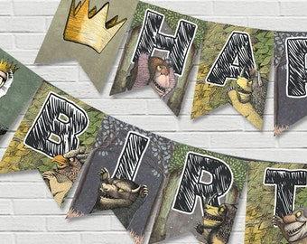 Where The Wild Things Are Birthday Banner // Digital File Only