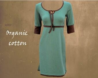 organic cotton dress, biological dress, sporty dress,