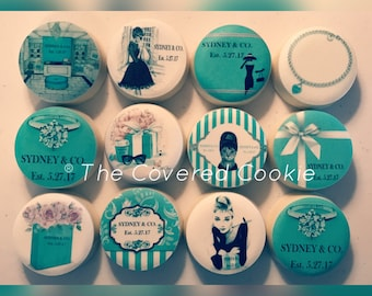 Tiffany and Co-Themed Cookies