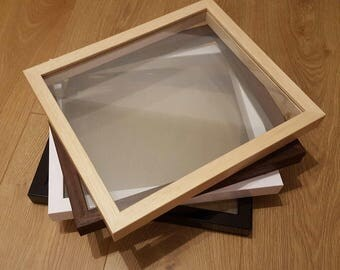 Floating Frame Only - Real Wood, Glass to Glass Frames - Papercut Paper Cut Frames