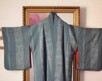 Seagull - vintage kimono from kyoto, japan