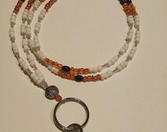 OSU Beaded Lanyard