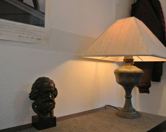Restored pewter table lamp