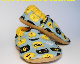 Big Kid Shoes Pattern, kid slippers - PDF Sewing Pattern and tutorial, Size US: 8-13