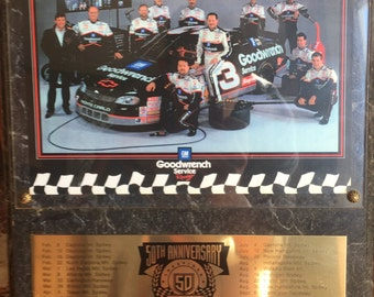 Vintage NASCAR, Goodwrench 50th Anniversary Plaque