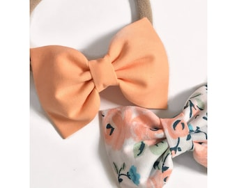 Spring Bows headband/clips, Baby Girl Bow