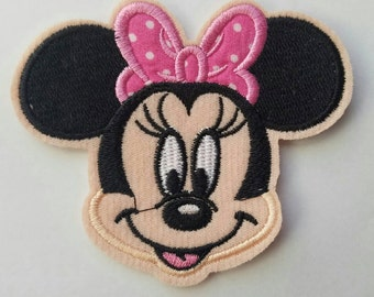 Minnie mouse inspired iron on patch