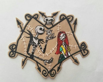The Nightmare Before Christmas iron on inspired patch, The Nightmare Before Christmas applique inspired