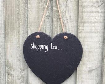 Handmade Natural Slate 30cm Large Heart Shaped Chalkboard Chalk Boards Notice Memo Boards Wall Decor Wedding