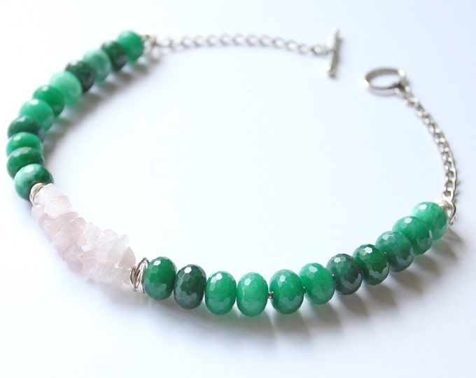 Green Necklace, Agate Choker, Сhristmas gift, Gift for her, Everyday Jewelry