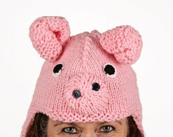 Mützentier - UNIQUE - funny hat in the form of pigs