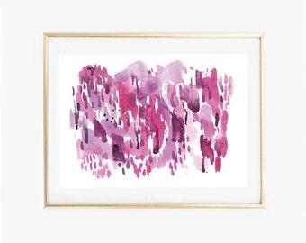Abstract Watercolor Print,Digital Art Print,Pink Print Download,Modern Wall printables,Pink Art,Wall Prints,Watercolor printable art
