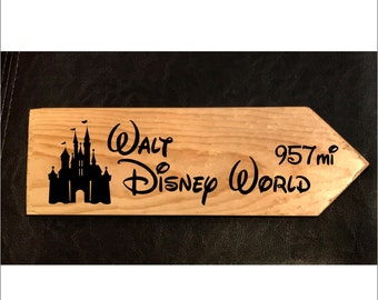 Custom sign to Walt Disney World