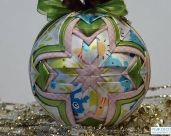 Hand-Crafted Quilted Ornament Baby's Delight