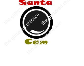 Santa Cam SVG, Christmas Ornament, Cricut file, Silhouette File, Santa Camera, necklace ornament, Digitial file, die cut