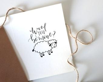 Wool You Be Mine?- Valentines Day Card | Boyfriend Card | Girlfriend Card | Greeting Card | Cute Card | Love Card