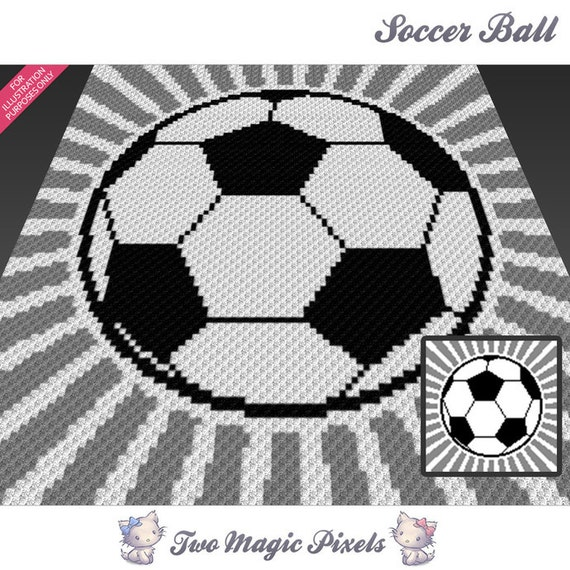 Soccer Ball Knitting Pattern : Soccer Ball crochet blanket pattern c2c cross stitch
