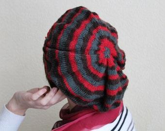 Wool Beret.Handmade crochet wool beret.Crochet Woolen Hat.Crochet Slouchy Beret.Winter Hat.Wool Beret.Knit Hat.Gift For Her.Warm Color Beret