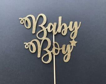 Baby Boy Cake Topper-Baby Shower Cake Topper-Handmade Cake Topper-Baby Announcement Cake Topper