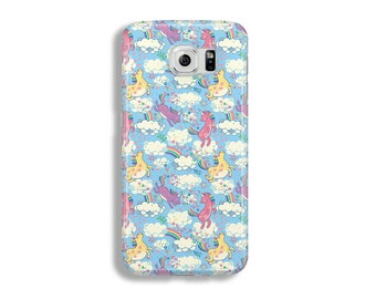 Rainbow unicorns in the clouds case phone cover Samsung Galaxy S8 case Samsung S8 case Samsung J5 csae Samsung Note 5 case unicorns case
