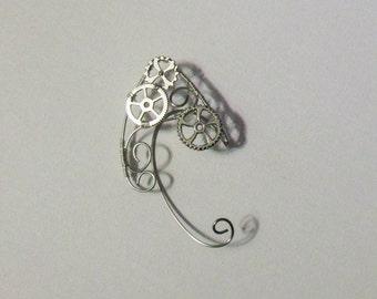 Steampunk Gear Ear Cuff For Right Ear