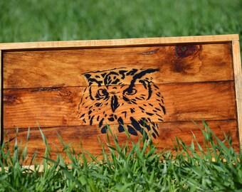 OWL decorative tray