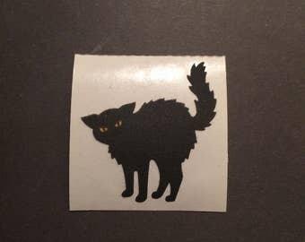 Sandylion vintage rare fuzzy black cat sticker
