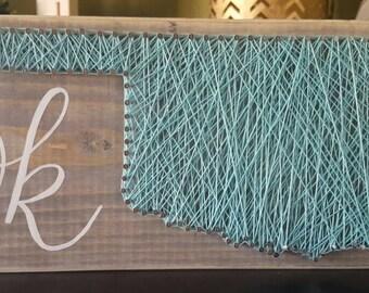 Oklahoma string art
