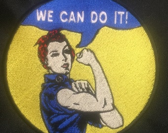 "Rosie the Riveter Patch 4"" Round"