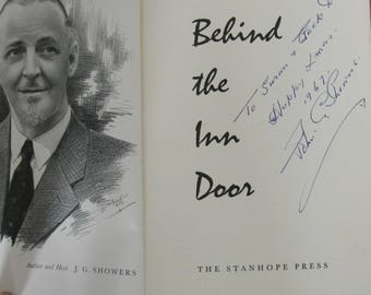 Behind the Inn Door.  J.G. Showers.  Signed 1st edition.