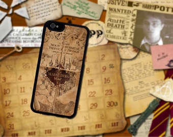 Marauder's Map Harry Potter Iphone case. Iphone 6 / 6s / 6 plus / 7 / 7 Plus Phone case Plastic / Silicone Rubber
