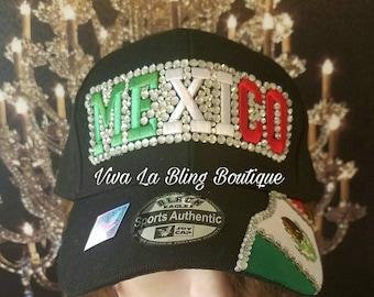 Custom Cinco De Mayo Bling  Hat/Trucker Hat - Mexico Hat