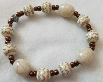 7.5 inch Hand Beaded Bracelet