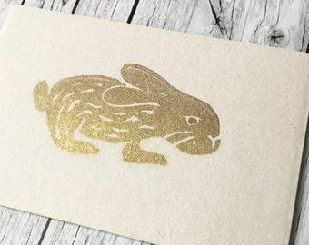 Greeting cards set Goldhäschen Goldbunny illustration Bunny Bunny Easter Easter