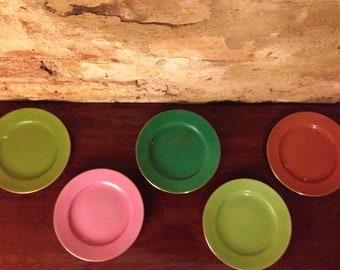 Set of 5 platters