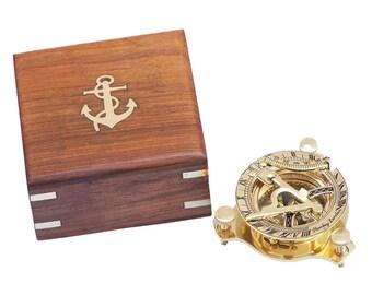 "Brass Sundial Compass 3"" Nautical Gift"