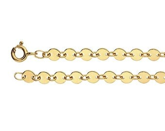 14/20 Yellow Gold-Filled 4.1mm Flat Circle Link Chain, 18 & 20 inch