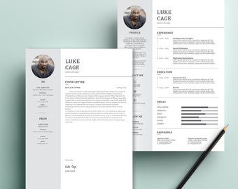 Landscape Architect Resume Excel Teaching Resume  Etsy Most Creative Resumes with Social Work Resume Objective Statements Excel Word Resume  Cover Letter Template Resume Template Cover Letter  Template Professional Creative First Resume Template Excel