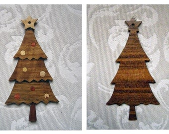 Tree of Christmas. Ornament Christmas of marquetry.
