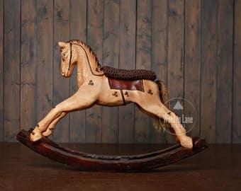 Newborn Digital Background, Digital Backdrop, Antique Rocking Horse Prop, Newborn Prop, Photography Background