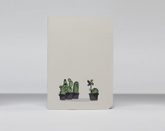 "Notebook A5 pages paned ""Les Cactus"""