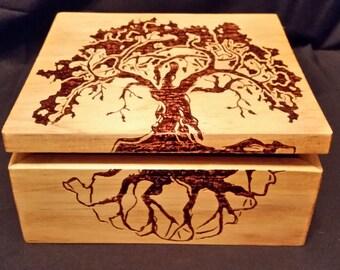 Tree of Life Wood Box