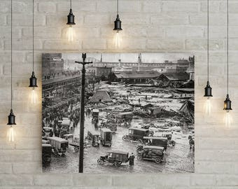 Boston Photo 1904, Great Molasses Flood, Boston, MA, Massachusetts Photos, City Wall Art, Boston History