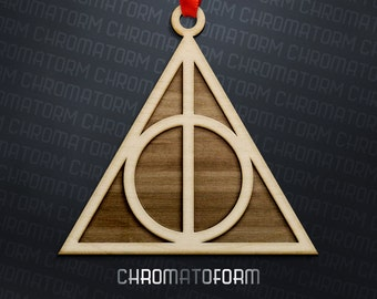 Harry Potter - Deathly Hallows Ornament - Laser engraved