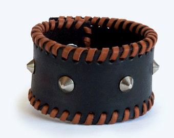 Premium Spiked Leather Bracelet